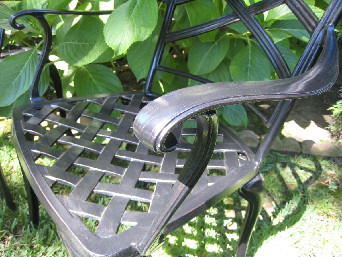 CBM Outdoor Cast Aluminum 7 Piece Patio Dining Set C with Cushions