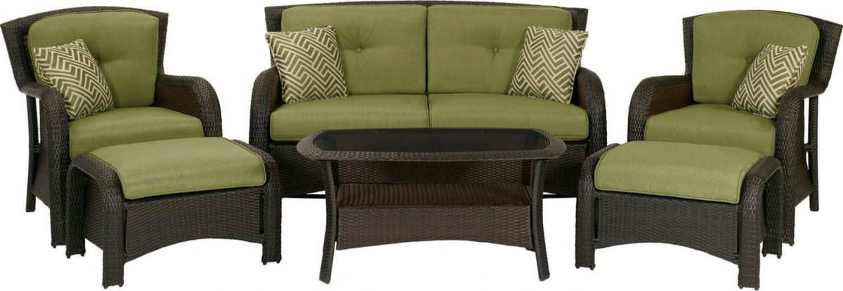 Wicker patio conversation set home design ideas and pictures for Home design 6 piece patio set