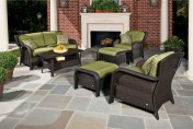 Hanover Strathmere 6 Piece Wicker Outdoor Conversation Set