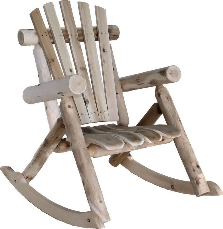 Lakeland Mills Outdoor Rustic Cedar Log Rocking Chair