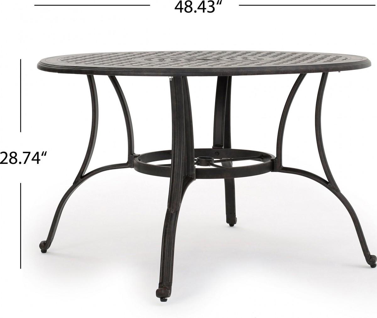 Cast Aluminum Table Legs Choice Image Bar Height Dining