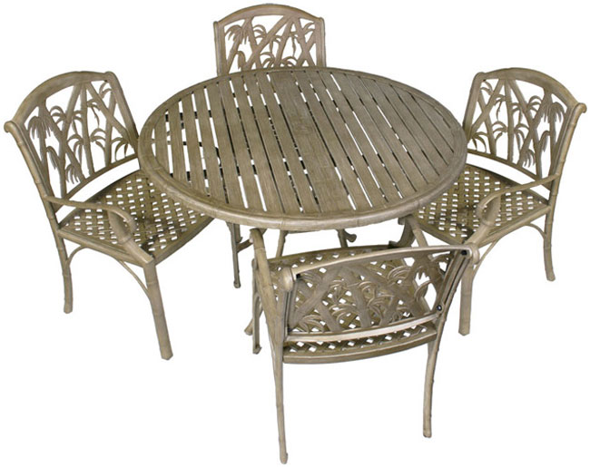 Bali 5 Piece Outdoor Dining Table And Chairs Set Patio Table