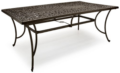 Strathwood St Thomas Cast Aluminum Rectangular Patio Table Patio Table