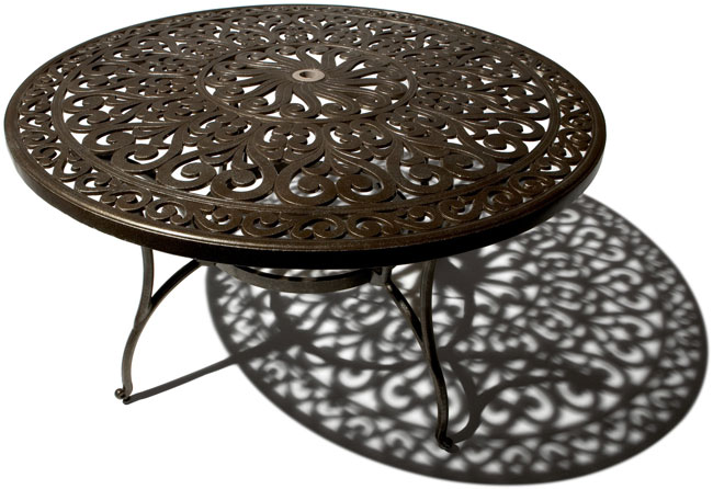 Strathwood St Thomas Cast Aluminum Round Dining Table  : Strathwood St Thomas Cast Aluminum Round Dining Table from patiotable.co size 650 x 446 jpeg 69kB