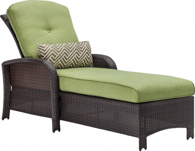 Hanover Strathmere Wicker Outdoor Chaise Lounge Chair