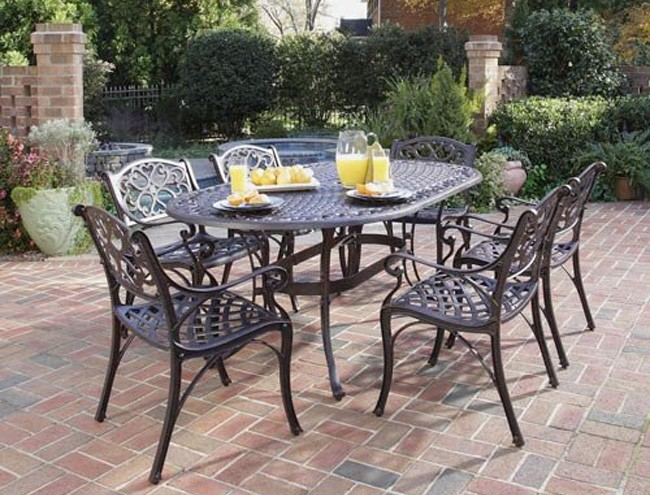Dining Sets Cast Aluminum Tables Home Styles Outdoor Patio Dining Sets
