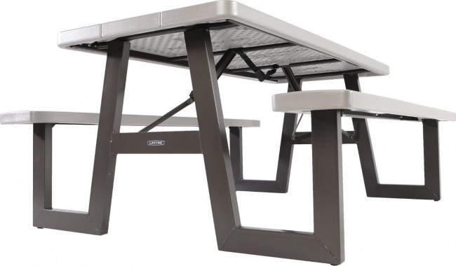 Lifetime 60030 W Frame 6 Foot Folding Picnic Table Bench