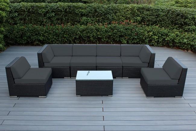 Ohana Collection 7pc Sunbrella Outdoor Sectional Sofa Set